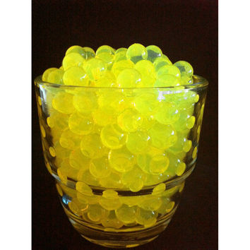 Water Beads Pearls Jelly Balls Vase Fillers, Large, Yellow
