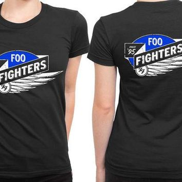 DCCKL83 Foo Fighter Logo Wing Since 2 Sided Womens T Shirt
