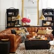 KEN FULK 5-PIECE L-SHAPED QUILTED LEATHER SECTIONAL