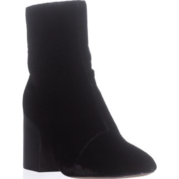 Bettye Muller Block-Heel ANkle Booties, Black, 6.5 US