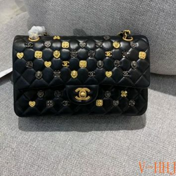 HCXX 19Aug 1091 Fashion Classic Embossing Chain Flap Bag Quilted Bag