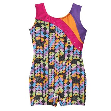 Jacques Moret Colorblock Biketard - Toddler Girl, Size: