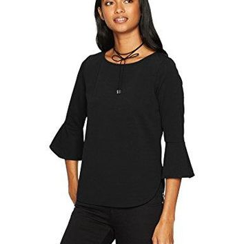 A Byer Womens Bell Sleeve Boat Neck Top Juniors