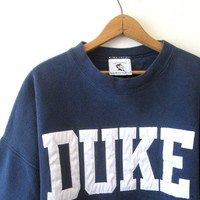 Vintage 1990's DUKE University Blue Devils Heavyweight Sweatshirt Sz 3XL