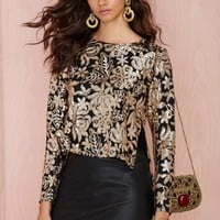 Lovers and Friends Saturday Night Sequin Top