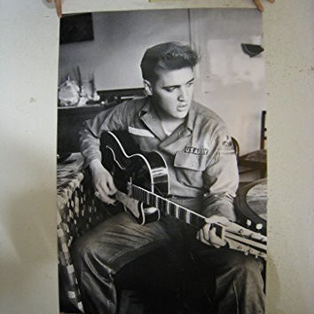 (24x36) Elvis Presley Army Uniform Music Poster Print by Poster Revolution
