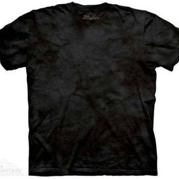 Black Solid Color Tie Dye T-Shirt