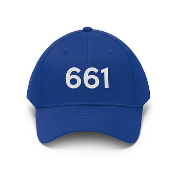 California 661 Area Code Embroidered Twill Hat