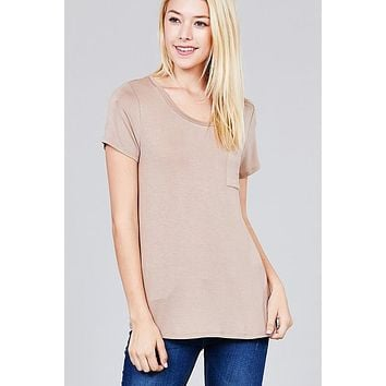 In The Pocket Tee - Sand