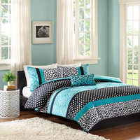 Blue Chloe Comforter Set