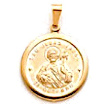 Saint Jude San Judas Pendant 18kts Of Gold Plated