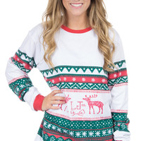 Lauren James: Christmas Sweater Tee {Green}