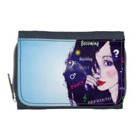 Woman illustration typography hairstyle wallet