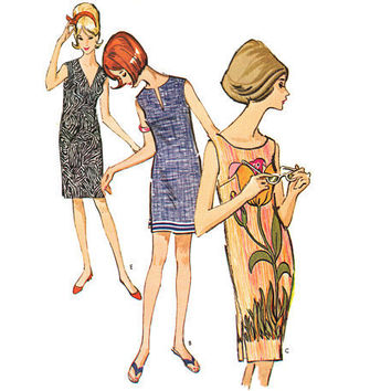 Vintage 1960s Sewing Pattern Sleeveless Shift Dress by mysweetiepiepie
