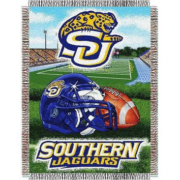 "Southern University Jaguars NCAA Woven Tapestry Throw (Home Field Advantage) (48x60"")"""
