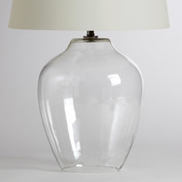 Clear Glass Table Lamp Base - World Market