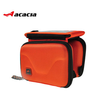 Saddle Bag Bicycle Bike Cycling Frame Pannier Front Tube Double Side Bag Accessories Bicycle Front Tube Bags Pouch 04116