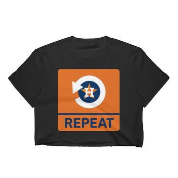 "Houston Baseball ""Repeat"" Women's Crop Top"