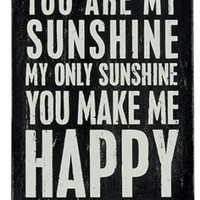You Are My Sunshine! - Personalized and Sent Directly to Your Gift Recipient - Wooden Greeting Card for Birthdays, Anniversaries, Weddings, and Special Occasions