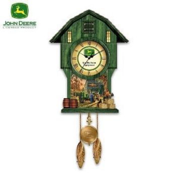 "John Deere ""Classic Times"" Cuckoo Clock by The Bradford Exchange"