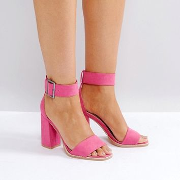 RAID Marina Pink Block Heeled Sandals at asos.com