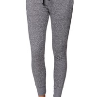 LA Hearts Marled French Terry Jogger Pants - Womens Pants - Gray
