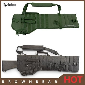 Tactical Rifle Scabbard Outdoor Hunting Backpack Holster Assault Shotgun Bag Long Gun Protection   Carrier green black