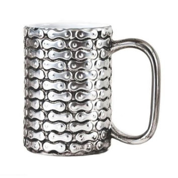 Bike Chain Mug, Gift Box, Stoneware, 4.5""
