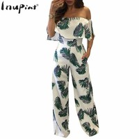 Womens Off-Shoulder Jumpsuits