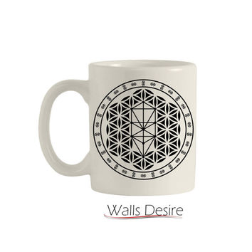 Tree Of Life, Flower Of Life Pattern, 11 Oz. T00106