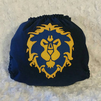 World of Warcraft Alliance Cloth Diaper Cover or Pocket Diaper - One-Size or Newborn, S, M, L