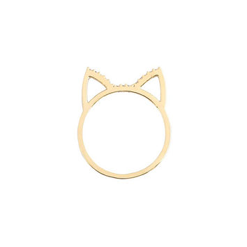 Crystal Cat Ring