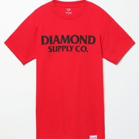 Diamond Supply Co Red T-Shirt - Mens Tee - Red