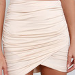 Gather Report Ruched Beige Skirt
