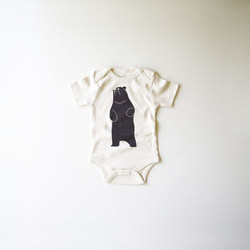 Be The Bear Organic Cotton Bodysuit in Natural