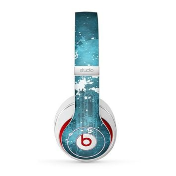 The Abstract Bleu Paint Splatter Skin for the Beats by Dre Studio (2013+ Version) Headphones