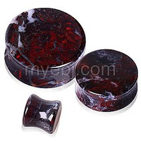 Natural Chicken Blood Stone Saddle Plug