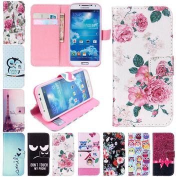 For iPhone 4 4s 5 5s SE 6 6s 7 Plus Leather Flip wallet Case Stand Luruxy Cases Cover For Samsung galaxy S3 S4 S5 S6 S7 edge