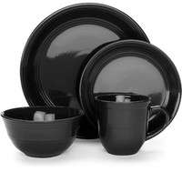 Walmart: Mainstays 16-Piece Stoneware Dinnerware Set, Assorted Colors