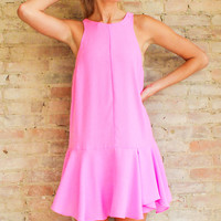 Date in Paradise Dress - Sun Pink