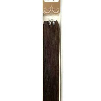 "20"" 9A Supreme Quality Color 4 Straight Human Hair Extension"