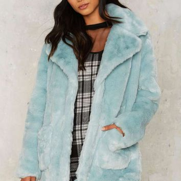 Love on the Brain Faux Fur Jacket