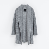 KNITTED CHUNKY CARDIGAN - Woman - New this week | ZARA United States