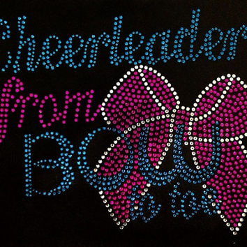 Rhinestone Cheer T-Shirt - Bling Shirt