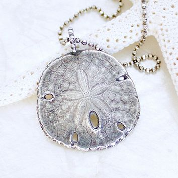 Sea Cookie Sand Dollar Necklace