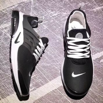Nike Air Presto Trending Women Men Leisure Running Sport Shoes Sneakers Black White I