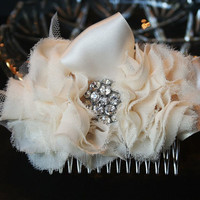 Ivory Bridal Hair Flower Hair Comb by FancieStrands