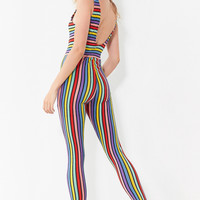 Motel Over The Rainbow Striped Bodycon Jumpsuit   Urban Outfitters