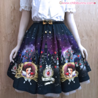 Snow White (black) - Cute kawaii skater skirt - LS2 from Chibi Bunny
