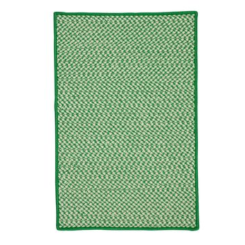 Colonial Mills Outdoor Houndstooth Tweed OT67 Grass Indoor/Outdoor Area Rug